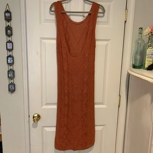 Anthropologie Dresses - Anthropologie Peach Cable Knit Dress by Callahan
